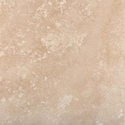 Trav Crosscut Ivory Classic Filled and Honed 18 in. x 18 in. Travertine Floor and Wall Tile