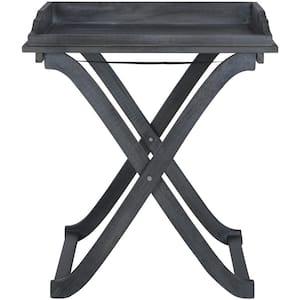 Covina Ash Grey Wood Patio Tray Table