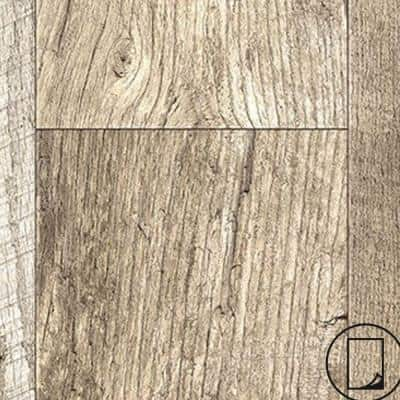 2 ft. x 4 ft. Laminate Sheet in RE-COVER Rediscovered Oak Planked with Virtual Design SoftGrain Finish
