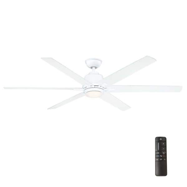 LED Indoor White Ceiling Fan Home Decorators Kensgrove 54 in