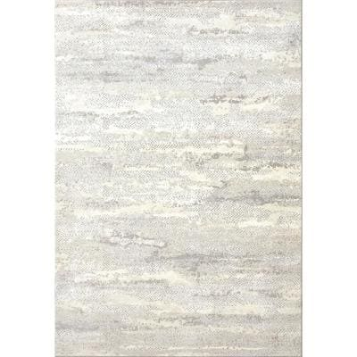 Couture Grey 5 ft. 3 in. x 7 ft. 7 in. Shrink Polyester Contemporary Indoor Area Rug