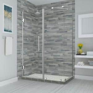 Aston Bromley 75 25 In To 76 25 In X 34 375 In X 72 In Frameless Corner Hinged Shower Enclosure In Oil Rubbed Bronze Sen967ez Orb 763834 10 The Home Depot