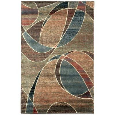 Expressions Multicolor 4 ft. x 6 ft. Geometric Contemporary Area Rug
