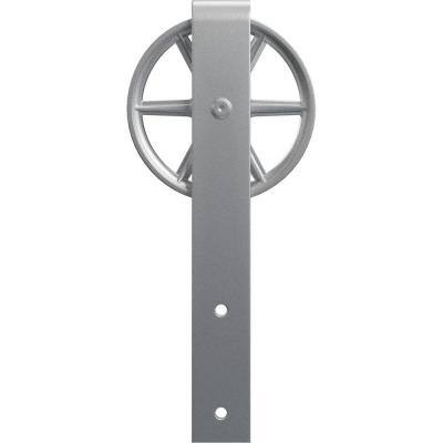 1-5/8 in. x 6 in. x 15 in. Steel Premium Wagon Wheel Roller Hanger Moulding Silver Metallic