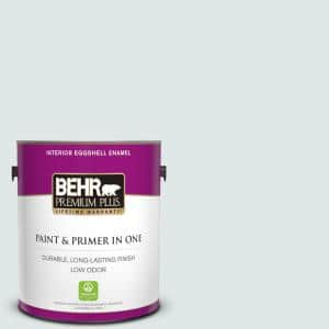 Behr Premium Plus 1 Gal Ppu13 17 Fresh Day Eggshell Enamel Low Odor Interior Paint And Primer In One 205001 The Home Depot