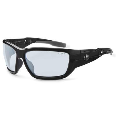 Skullerz Baldr Black Anti-Fog Safety Glasses, In/Outdoor Lens - ANSI Certified