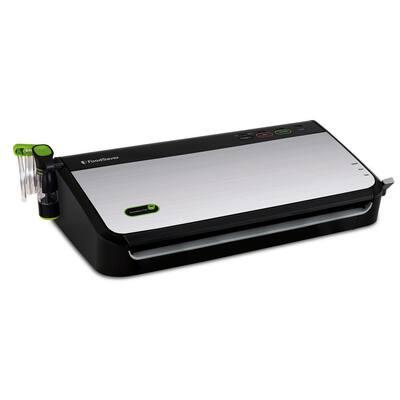 Stainless Steel Food Vacuum Sealer System with Bonus Handheld Sealer and Starter Kit