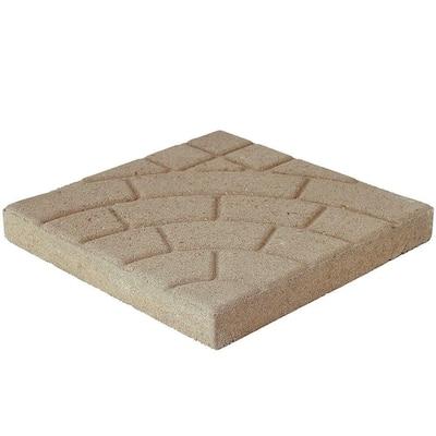 Bella Cobble 16 in. x 16 in. x 1.75 in. Buff Concrete Step Stone