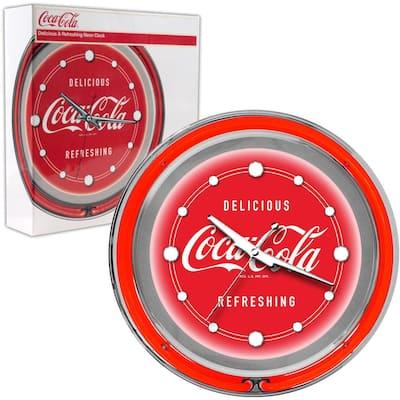 14 in. Coca-Cola Delicious Refreshing Neon Wall Clock