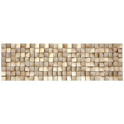 72 in. x 22 in. Textured 2 Mixed Media Hand Painted Dimensional Wall Art