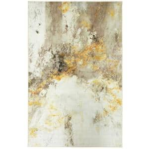 Gold Vein Gray 4 ft. x 6 ft. Abstract Area Rug