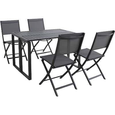 Aluminum Folding Patio Dining Sets, Folding Patio Furniture Set