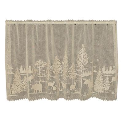 Lodge Hollow 30 in. L Polyester Tier in Natural