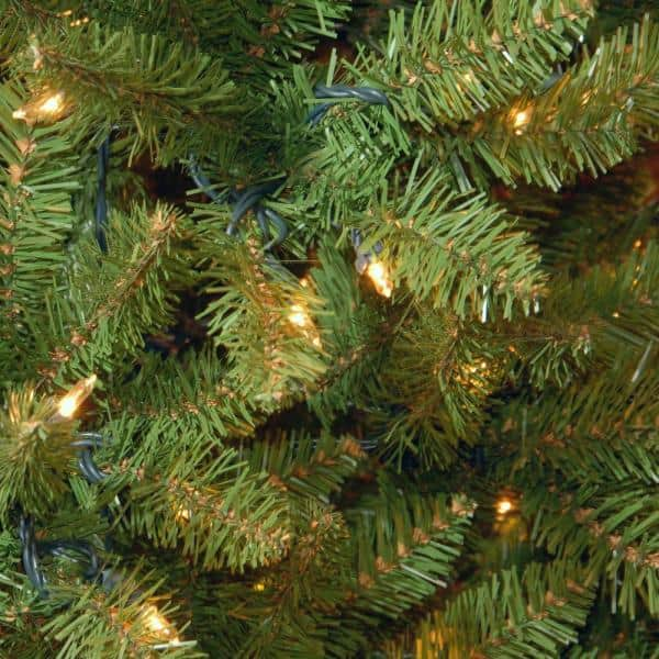 National Tree Company 12 Ft Kingswood Fir Slim Artificial Christmas Tree With Clear Lights Kw7 300 120 The Home Depot