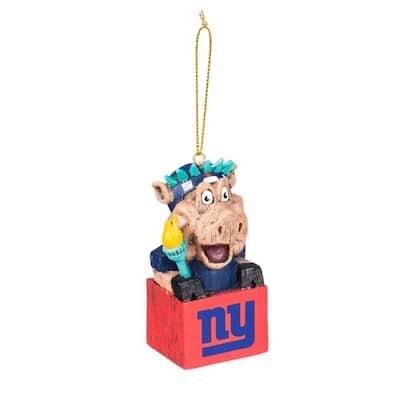 New York Giants 1-1/2 in. NFL Mascot Tiki Totem Christmas Ornament