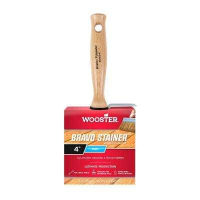 4 in. Bristle/Polyester Bravo Stainer Brush