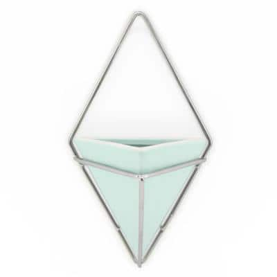 Diamond 6 in. x 10 in. Mint Matte Ceramic Wall Planter