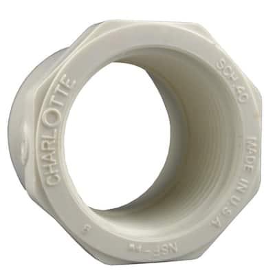 2 in. x 1-1/4 in. PVC Schedule 40 Reducer Bushing