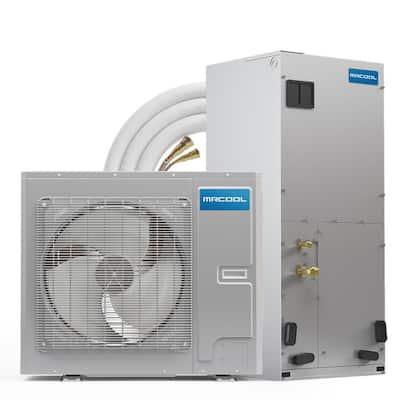 DIY Universal 24,000 BTU 20 SEER R-410A Central Split System Heat Pump with 35 ft. No-Vac Install Kit - 208/230-Volt