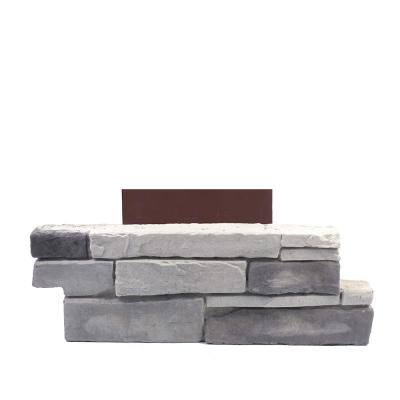 18 in. x 6 in. Ledge Stone Colorado Gray Stone Veneer Siding (Pillar Stone)