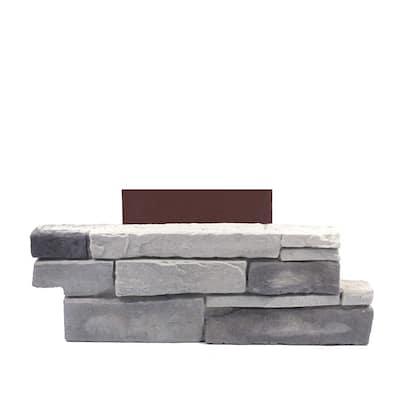 18 in. x 6 in. Ledgestone Northern Gray Stone Veneer Siding (Pillar Stone)