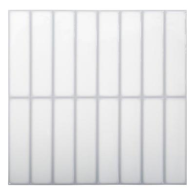 6-Pieces 10 in. x 10 in. White Truu Design Self-Adhesive Peel and Stick Accent Wall Tiles