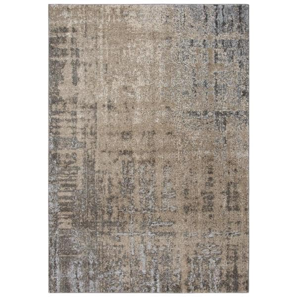 Venice Beige Brown 5 Ft 3 In X 7 Ft 6 In Abstract Area Rug Vicvi100604795376 The Home Depot