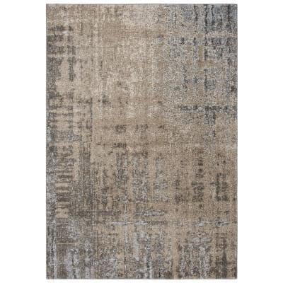Venice Beige/Brown 6 ft. 7 in. x 9 ft. 6 in. Abstract Area Rug