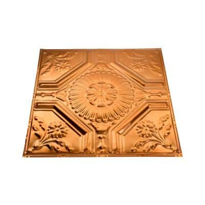 Rochester 2 ft. x 2 ft. Nail Up Metal Ceiling Tile in Copper (Case of 5)