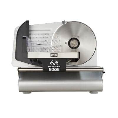 Realtree Edge 200-Watt Silver Meat Slicer with Camouflage Storage Cover