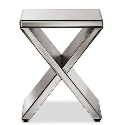 Morris Glam Silver Metallic Finished End Table
