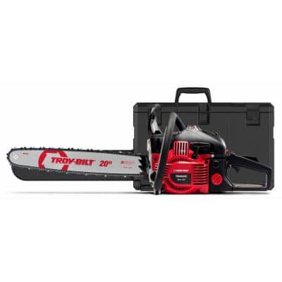 20 in. 46 cc Gas 2-Cycle Chainsaw with Automatic Chain Oiler and Heavy-Duty Carry Case Included
