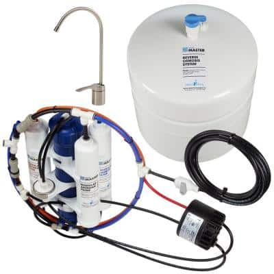 Artesian Full Contact with Permeate Pump Loaded Under Sink Reverse Osmosis Water Filter System