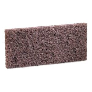 4 in. x 10 in. Heavy-Duty Brown Sponge Pads (20-Carton)