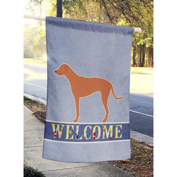Caroline S Treasures 28 In X 40 In Polyester Rhodesian Ridgeback Welcome Flag Canvas House Size 2 Sided Heavyweight Bb8277chf The Home Depot