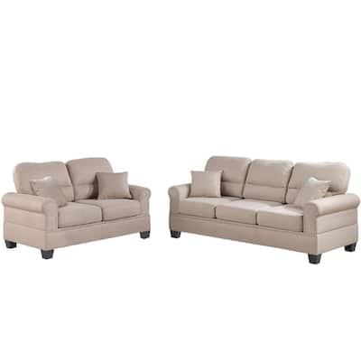 Sibillini 2-Piece Sand Sofa Set