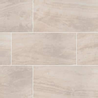 Praia Cream 12 in. x 24 in. Polished Porcelain Floor and Wall Tile (32 Cases/512 sq. ft./Pallet)