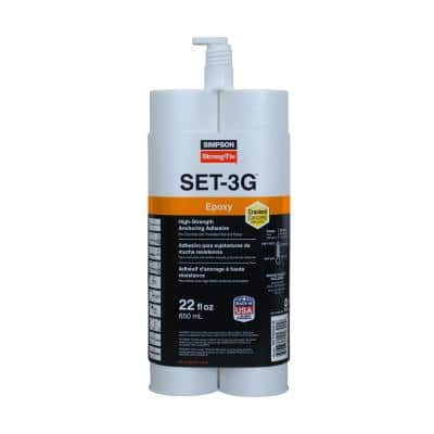 SET-3G 22 oz. High-Strength Epoxy Adhesive with Nozzle and Extension