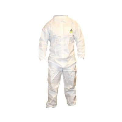 Defender Male 2X-Large White Coveralls with Collar