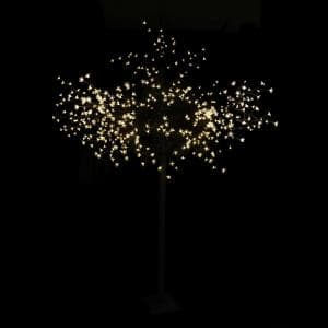 96 in. Warm White Multi-Function LED Lighted Lights Cherry Blossom Flower Tree