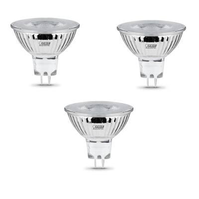 20-Watt Equivalent MR16 GU5.3 Bi-Pin Dimmable Track Lighting 90+ CRI Chrome LED Flood Light Bulb, Bright White (3-Pack)
