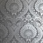 Luxe Damask Gunmetal Vinyl Strippable Roll (Covers 56 sq. ft.)
