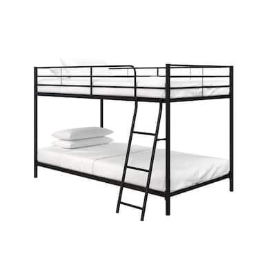 Fulton Black Metal Twin Over Twin Bunk Bed