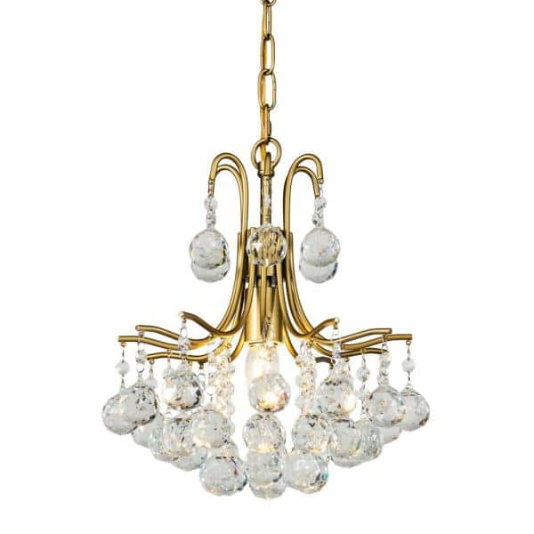 Aloa Decor Wyndmoor 1 Light Unique Statement Tiered Chandelier With Wrought Iron Accents In Antique Brass 7004d31br The Home Depot