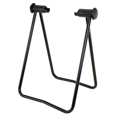 Black 1-Bike Foldable Floor Stand Garage Bike Rack