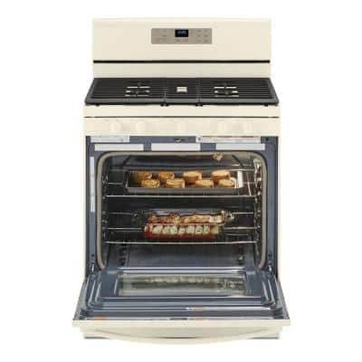 5.0 cu. ft. Gas Range with Self Cleaning and Center Oval Burner in Biscuit