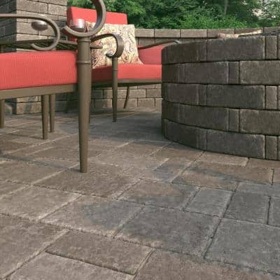 RumbleStone Square 7 in. x 7 in. x 1.75 in. Greystone Concrete Paver (288 Pcs. / 98 Sq. ft. / Pallet)