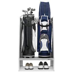 Premier Series Hammered White Steel 2-Bag Golf Organizer