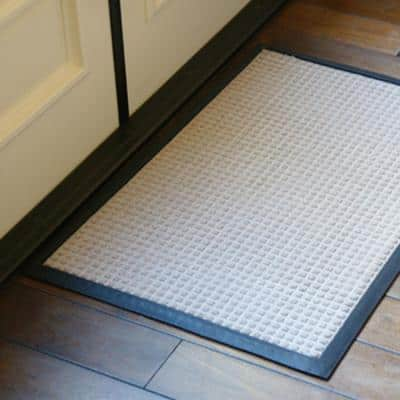 Nottingham Charcoal 48 in. x 72 in. Rubber Backed Carpet Mat