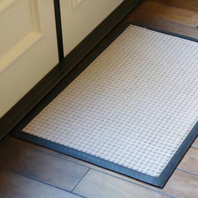 Nottingham Gray 48 in. x 72 in. Rubber Backed Carpet Mat